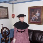 "Mrs. Lee and a portrait of the General at ""Arlington House"""