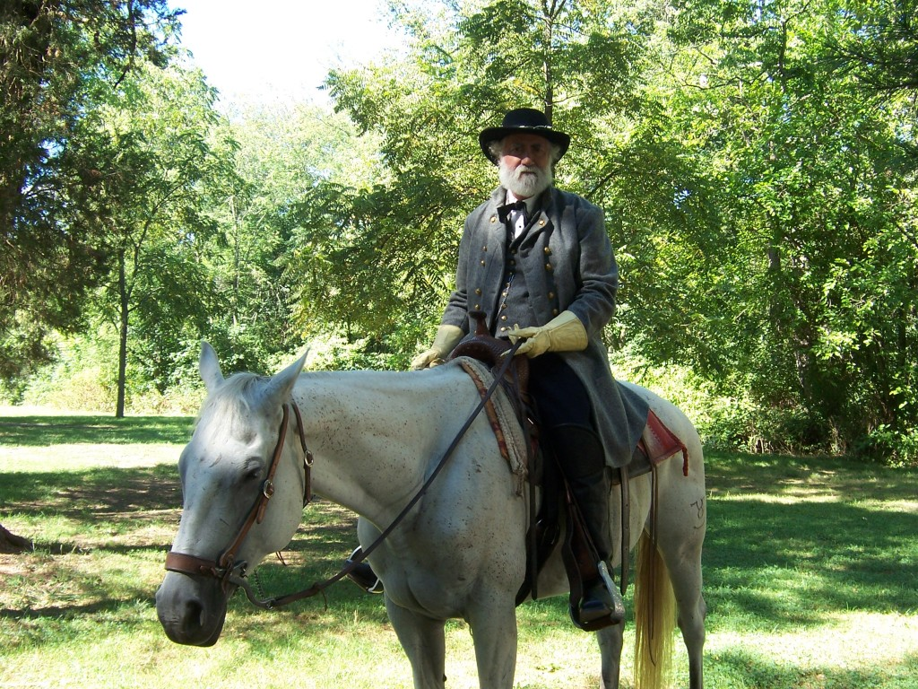Gen. Lee rides Traveller on the Gettysburg Battlefield