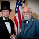 "President Lincoln and Gen. Lee ""reconciling their differences"""